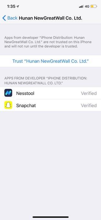 trust snapchat++ profile