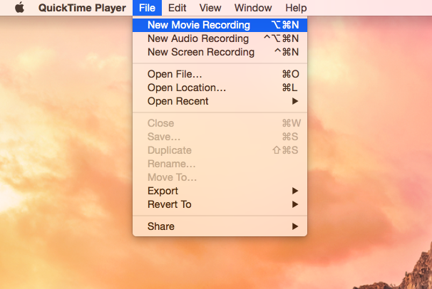 record iphone screen using quicktime player