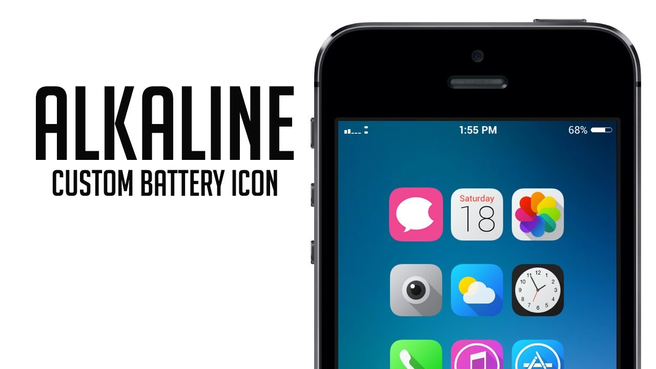 alkaline tweak for custom battery icon