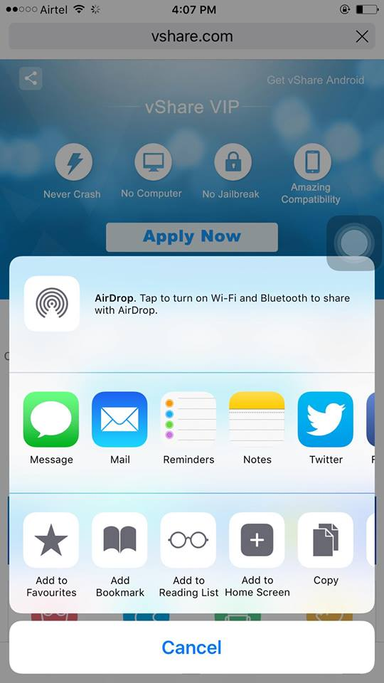 appishare for ios 10, 9