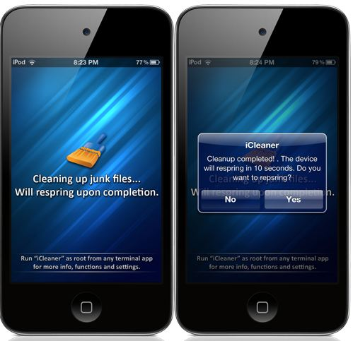 icleaner cydia tweak to clean junk on iphone