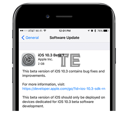 ios 10.3 beta 1 features