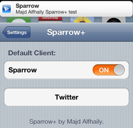 sparrow plus cydia tweak