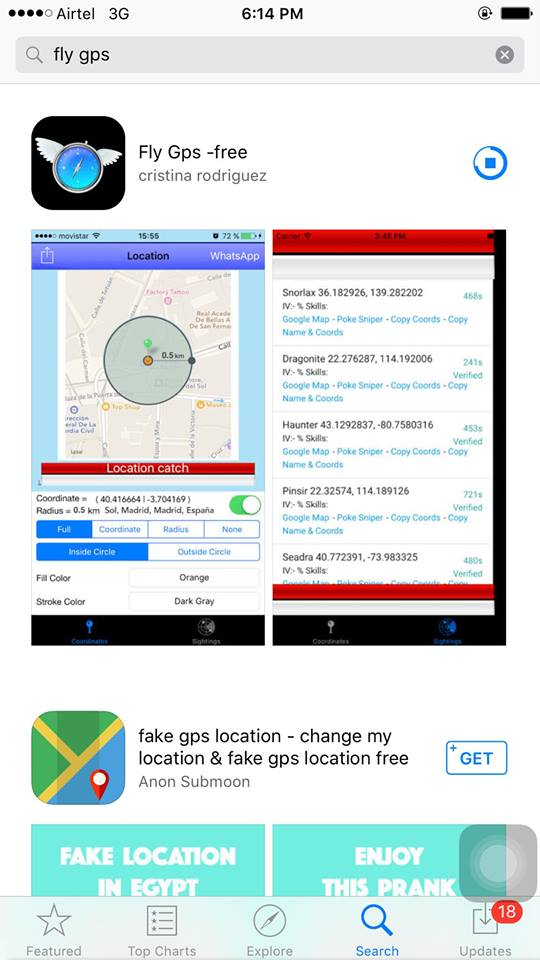 Fly GPS Installing on iPhone