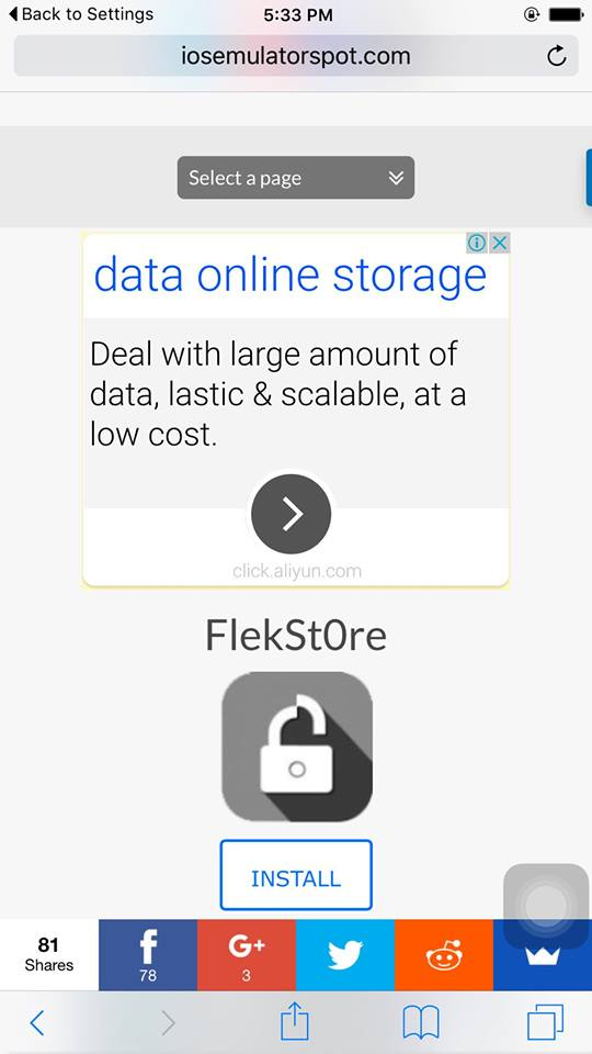 flekstore for ios 9 without jailbreak