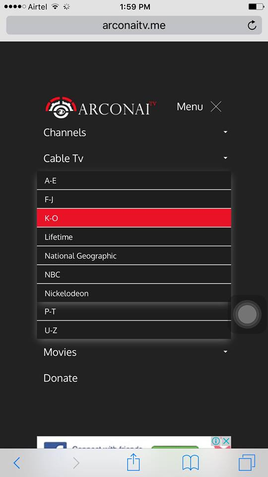 arconaitv live tv on iphone no jailbreak