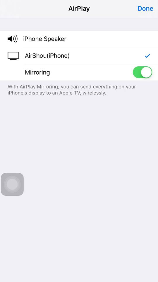 enable mirroring for shou recorder