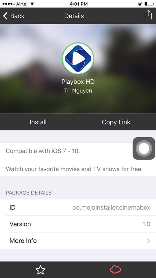 install playbox hd app using mojo installer