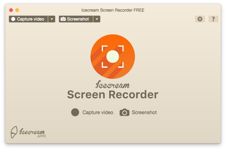 capture mac screen using icecream video recorder