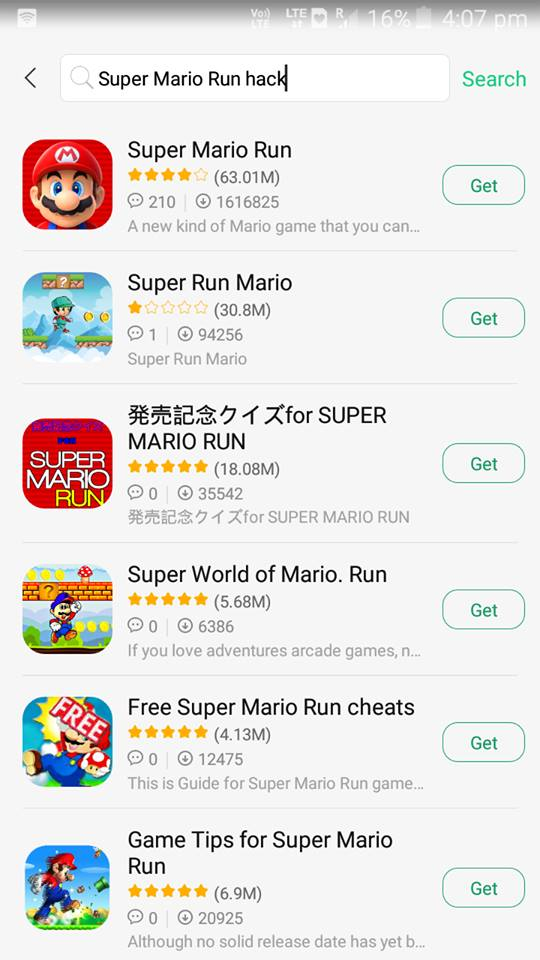 super mario run hack android