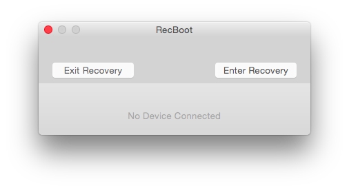 exit or enter iphone recovery mode using recboot on mac or windows 10
