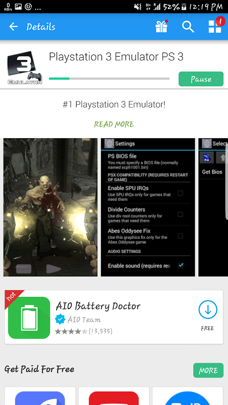 ps3 emulator for android download