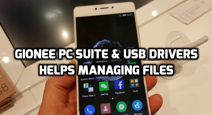 gionee pc suite and gionee usb drivers
