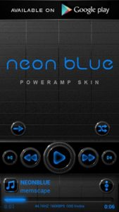neon blue Go launcher theme