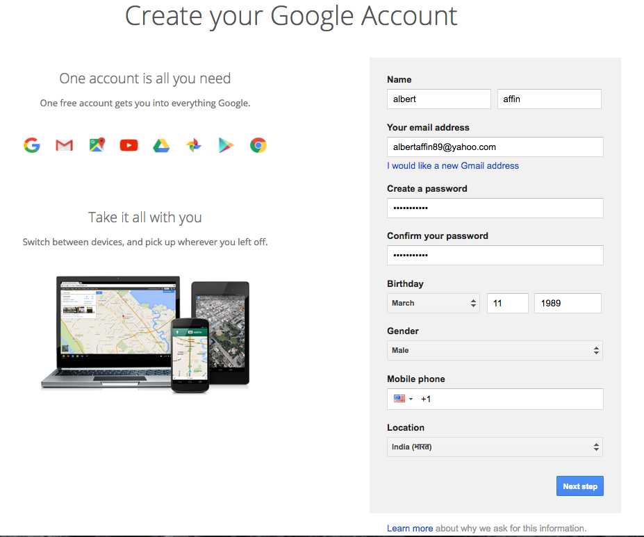 create youtube account without gmail id