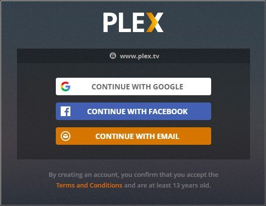 login to plex on ps4