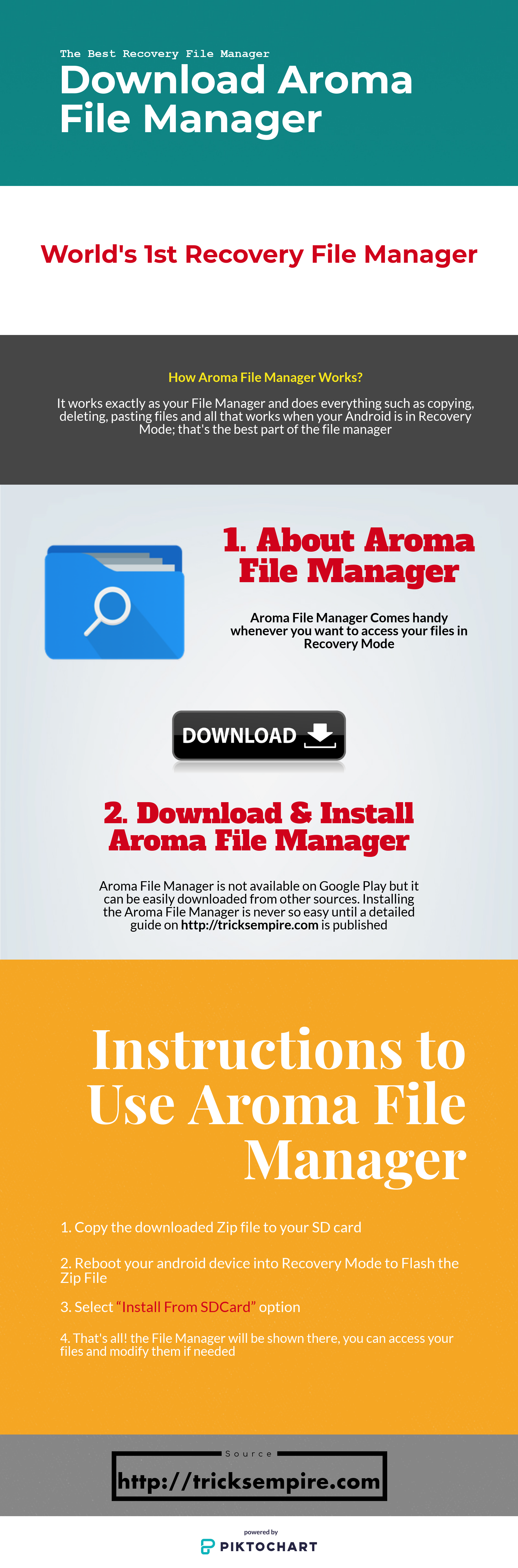 aroma file manager infographics