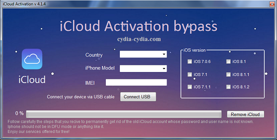 icloud activation bypass tool v 1.4