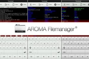 latest version of aroma file manager for android