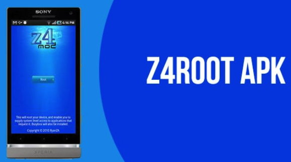 root android without pc using z4root app