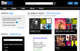 bluebeat free music streaming sites