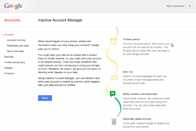 how google account manager works on android