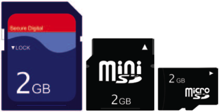 tf card and microsd card