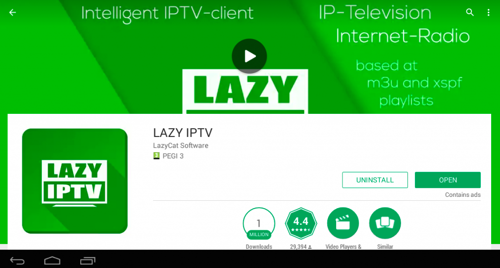 Lazy IPTV Player PC Windows Mac