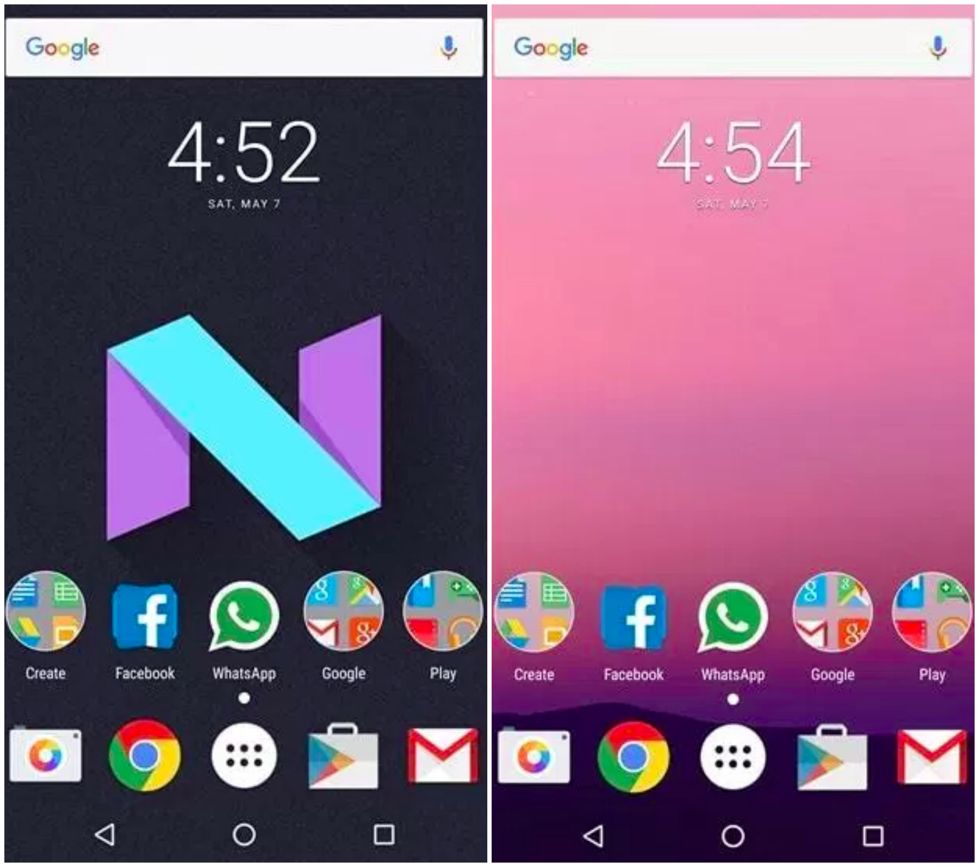 Android Nougat Nova Launcher Theme