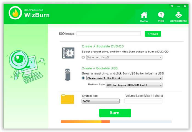How to Burn ISO To USB with iSeePassword WizBurn