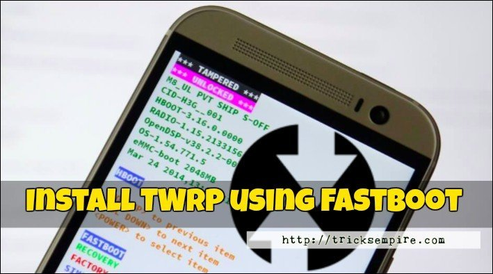 installing twrp on android using fastboot