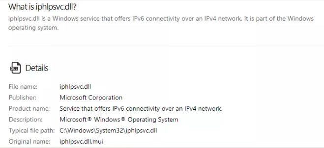 IP Helper IPHLPSVC Services Tuning